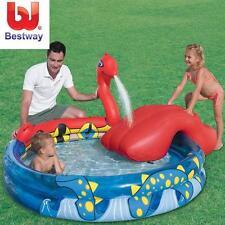 "Bestway 80""x65""x29"" Inflatable Kids Viking Siege Play Pool Swimming Summer"