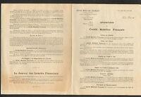 """PARIS (IX° Arrt.) BANQUE """"CREDIT MOBILIER FRANCAIS"""" en 1910"""