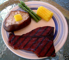 Grilled Steak Dinner & Baked Potato, Wax Fake Food Prop