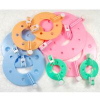 8 PCS 4 Sizes Essential Pom Pom Maker Fluff Ball Weaver Needle Craft Tool Kit AB