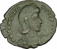 CONSTANTIUS II Constantine the Great son Roman Coin Battle Horse man i40153