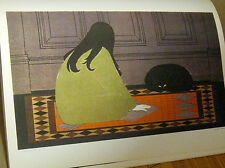 Will Barnet Poster of Dialogue in Green -Offset Lithograph 16x11 Unsigned