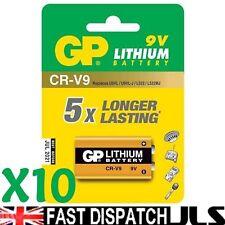 10 x LITHIUM 9V Batteries GP CR-V9 U9VL U9VL-J L522 PP3