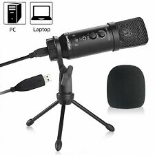 USB Microphone Metal Condenser Recording Microphone for Studio Recording Vocals