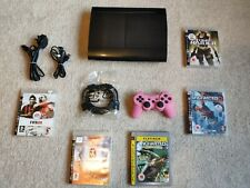 HUGE BUNDLE!! Sony PlayStation PS3 Super Slim Black Console FREE HDMI CABLE! UK!
