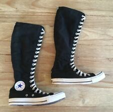 Converse All Star Women's 7 Men's 5 Zip Up Lace Chuck Taylor Knee High Sneakers