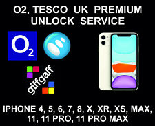 O2 UK Premium Unlock Service, iPhone 4, 5, 6, 7, 8, X, XR, XS, 11, Pro, Max