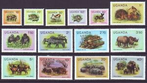 Uganda 1979 SC 279-291 MH Set Animals
