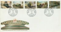 22 JANUARY 1985 FAMOUS TRAINS ROYAL MAIL UNADDRESSED FIRST DAY COVER SWINDON SHS