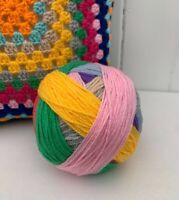 Wool Yarn Ball DK Random Multi Mix Colours Prewound Crochet Knitting Craft 150g