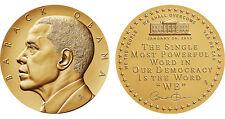 """BARACK OBAMA 2nd Term Bronze Medal 1 5/16"""" US MINT with US Mint velvet case 2013"""