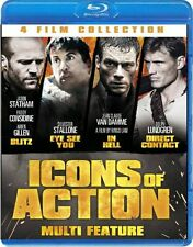 Icons of Action (Blitz / Eye See You / In Hell / Direct Contact [Blu-ray] SEALED