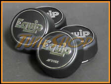 4 PCS WORK EQUIP 01 02 03 WHEELS RIMS HIGH TYPE CENTER CAPS BLACK