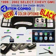 99 00 01 02 SILVERADO SIERRA CAR STEREO RADIO 2DIN DASH KIT + ALPINE iLX-W650