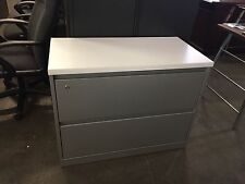 """2Dr 36""""W x 18""""D x 28""""H LATERAL FILE CABINET w/ LAMINATE TOP by STEELCASE"""