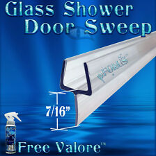 "DS32225 3/8"" Shower Door Sweep, Wipe, Seal - 32"" Long FREE 4oz VALORE Sealer"