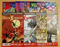 Death of Wolverine 1-3 & 5 & Weapon X 1-4 (Marvel comic lot/run) 2 3 Program