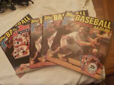 4 1982 AND 1 1983 BASEBALL STICKER ALBUMS PARTUALLY FULL