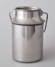 Stainless Steel Milk Can 7,5L Bottle Canister Container Jug Pail Liquid Inox Lid