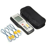 New Handheld 4-Channel K-Type Digital Temperature Thermometer Thermocouple Probe