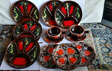Seventeen Pieces of Retro Vallauris Pottery - majolica glazed