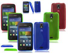 Étuis, housses et coques bleu en silicone, caoutchouc, gel pour téléphone mobile et assistant personnel (PDA) Huawei