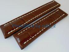 Genuine Breitling 22mm x 20mm Brown Alligator Crocodile Strap Band Brand New!!!