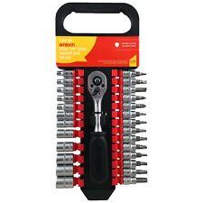 Amtech I0225 27pzas 1/4 Unidad Socket & Bit Set Mango Trinquete Phillips Torx