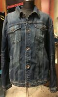 7 FOR ALL MANKIND-TRUCKER DENIM JACKET-LIGHT WASH-SIZE XL