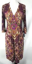 R&M Richards Women's Purple Floral Jersey Dress Size 8