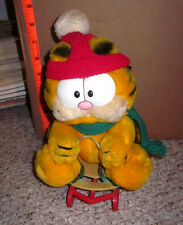 Garfield plush Jim Davis tabby cat Christmas Sleigh doll stuffed animal