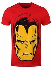 Marvel Comics Iron Man Big Head T-shirt Medium Mens Official Red