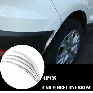 4Pcs Universal Car Wheel Eyebrows Protector Trim Lip Fender Flares Chrome Stick