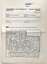 BLAUPUNKT Autoradio BEB 60 Equalizer-Booster Schaltbild Plan