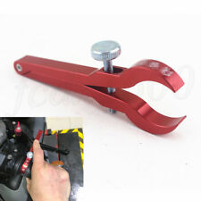 Red Aluminum Motorcycle Gas Throttle Cruise Control Assist Lock Mounting Bracket