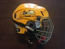 New listing Bauer Nike Nbh8500Xl Ice Hockey Helmet True Vision Cage Combo Vg+ Gophers Yellow