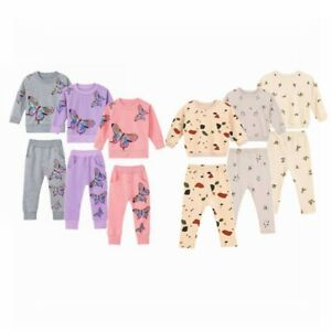 Infant Baby Girls Clothes Set Sport Suit Long Sleeve Top Pants Casual Daily Wear