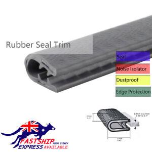 Grey Rubber Trim Seal Lock Edge Protector U Shape WeatherResistant Sold by Meter