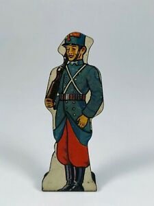 French Infantry #15 Vintage Marx Toy Lithograph Tin Army Soldier Litho Figure