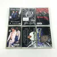 Lot 6 Cassette Tapes Explicit Rap Hip Hop 90's 8 Ball Major Figgas Black Indian