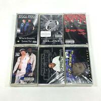 Lot 6 Cassette Tapes Explicit Rap Hip Hop 90's 8 Ball Major Figgas Black Indian
