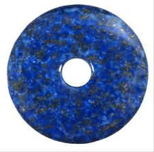 Lapislazuli Donut Pendant GEMSTONE 40 Mm Slice Stone Pi Stone Healing Stone