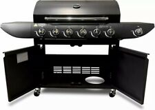 BBGrill 6+1 Outdoor Gas Burner Grill BBQ Barbecue W/Side Burner- Black UK