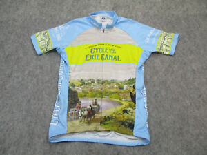 Voler Cycling Jersey Mens Small Bike Tour Graphic Pockets Cycle Erie Canal USA