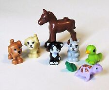 NEW LEGO Lot 8 Pets Animal Minifig Foal Horse Dog Cat Bunny Turtle Friends  C19