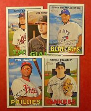 2016 Topps Heritage & Heritage High Number Lot - You Pick 25  (Inserts included)