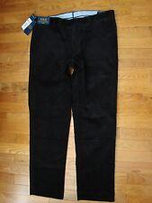 Nwt Polo Ralph Lauren Men'S Slim Fit Black Corduroy Pants Size 34X30