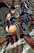 Psylocke Night Crawler xmen marvel comic art signed 11x17 print Rod Jacobsen
