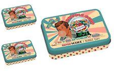 3 Jabon de Marsella + Caja Metalica Vintage Aroma CHICLE FRESA 100gr 611240 7101