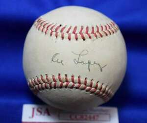 Al Lopez JSA Coa autograph Signed Baseball